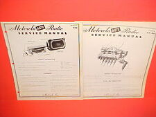 1951 PLYMOUTH CAMBRIDGE CRANBROOK MOTOROLA AM RADIO +TUNER AT-84 SERVICE MANUALS
