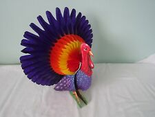 Vintage Honeycomb Thanksgiving Turkey Centerpiece 12""