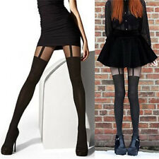 Fashion Women Girls Temptation Sheer Mock Suspender Tights Pantyhose StockingHGU