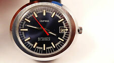INFRA ufo style large vintage watch uhr automatic otomatik NOS