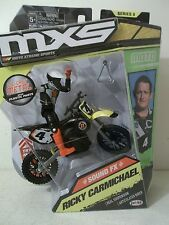 2016 JAKKS MXS SERIES 8 RICKY CARMICHAEL JIMMY JOHNS FOX #4 SUZUKI RM-250