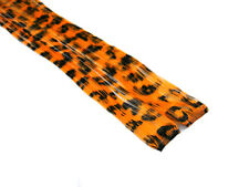 "CLIP-IN 12"" HAIR EXTENSION ORANGE LEOPARD EMO SCENE"