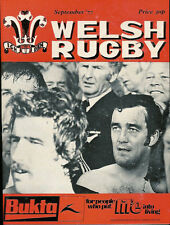 WELSH RUGBY MAGAZINE SEPTEMBER 1977 LIONS IN NEW ZEALAND, LLANDYBIE, JPR