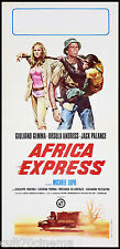 AFRICA EXPRESS LOCANDINA CINEMA FILM SEXY URSULA ANDRESS 1975 PLAYBILL POSTER