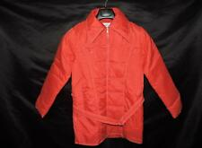 Vintage 70s Size S Red Winter Coat Ski Jacket Retro Collar Sports Wear Woman Sm