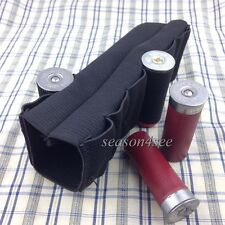 Tactical Shotgun Elastic Carrier Loop for 8 Round Ammo Buttstock Shell Holder BK