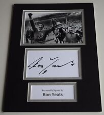 Ron Yeats Signed Autograph A4 photo mount display Liverpool Football AFTAL & COA