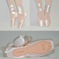 Sansha Women's and Girls Pink Satin Ballet Pointe Shoes Toe Shoes New 15 Sizes