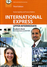 Oxford INTERNATIONAL EXPRESS 3rd Ed Upper-Intermediate STUDENT'S Book w DVD @New