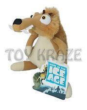 """ICE AGE PLUSH! MEDIUM SCRAT SQUIRREL BROWN SOFT DOLL TOY 10"""" NWT"""