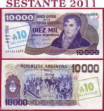 ARGENTINA - 10 AUSTRALES ON 10.000 PESOS 1985  Lettera B -  P 322c -  FDS / UNC