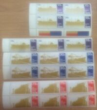 Singapore stamps - 1970 Ship series stamps blocks multi Sets toned gum