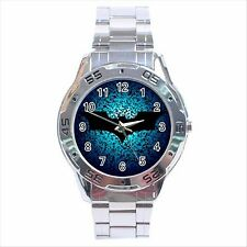 NEW* HOT BATMAN BAT LOGO Stainless Steel Analogue Wrist Watch Gift