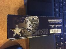 2015 DALLAS COWBOYS VS SEATTLE SEAHAWKS TICKET STUB NFL 11/1