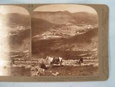 Stereoview Underwood Shechem An Early Center Of Hebrew History Mount Ebal (O)