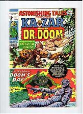 Marvel Comics ASTONISHING TALES #1 Kazar & Dr Doom Aug 1970 vintage comic VG