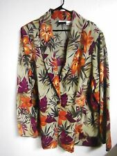 FASHION BUG WOMENS PLUS SIZE 26-28 FLORAL POLYESTER Jacket CAREER WEAR USA