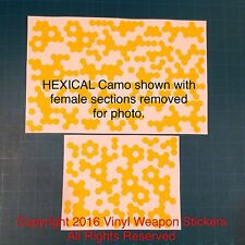 HEXICAL Camo Vinyl Stencil, For Duracoat, Cerakote, Krylon, New Design