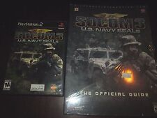 SOCOM 3: U.S. Navy SEALs (Sony PlayStation 2, 2005) with Strategy Guide
