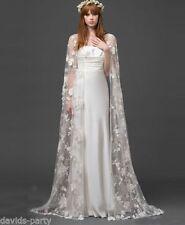 New Fashion Ivory Lace Long Cloaks Mantle Wedding Jacket Overlay cloak shawl**