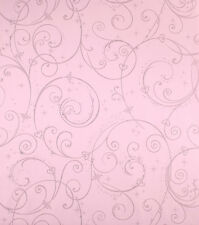 DK5967 Disney Pink Silver Glitter Wallpaper Swirl Girls Wallpaper