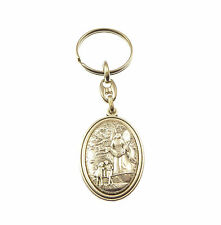 Guardian Angel silver metal medal rosary keyring Christian gift