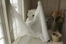 Vintage French Rayon yardage c1940's white black woven sheer curtain