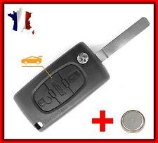 Coque PLIP Télécommande Clé Peugeot 107.207.307.308.407.607.807.3 BOUTONS +PILE!