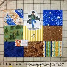 BonEful Fabric COTTON QUILT LOT Harry Potter Wizard Frog Magic Blue Star Glitter