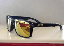 NWOT Authentic LE Oakley Holbrook Shaun White Sunglasses Black / 24K Gold Irid