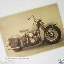 Harley Davidson Motorcycle Classic Poster Brown Paper Poster Bar Cafe Decorate