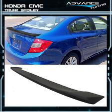 12-15 Honda Civic 4Dr 4Door Sedan Matte Black ABS Trunk Spoiler