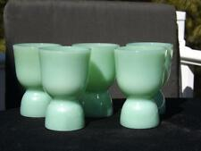 """5 JADEITE FIRE KING ANCHOR HOCKING 4"""" DOUBLE SIDED EGG CUPS JADITE EXC"""