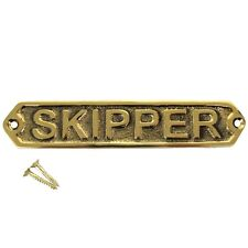 New Solid Brass Ship Ship's boat plaque SKIPPER nautical decor ships door sign