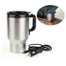 Stainless Steel Travel Outdoor Electric Mug Kettle Car Heated Warm 12V  SP