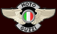 """MOTO GUZZI WINGED EMBROIDERED PATCH~5-1/2""""x 3-1/4"""" MOTORCYCLE CALIFORNIA LE MANS"""