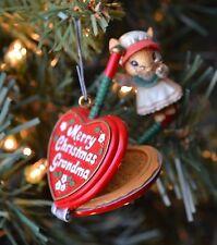 Vintage 1993 Enesco Gramma's Liddle Griddle Christmas Ornament Kitchen Mouse