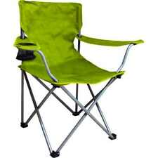 Outdoor Trail Folding Camping Arm Chair Picnic Camp Foldable Green - 1 Piece