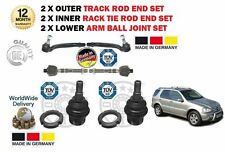 FOR MERCEDES ML 1998-  2x INNER & 2x OUTER TRACK RACK ROD TIE END + BALL JOINTS