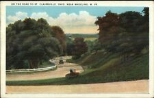 Road to St. Clairsville OH Near Wheeling WV c1920 Postcard