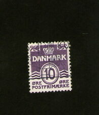 POSTAGE STAMP  : DENMARK -  purple - 10 -