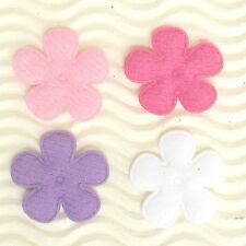 """US SELLER - 80 pcs x 1"""" Padded Felt Spring Flower Appliques for Bows/Card ST628A"""