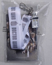 DOCTOR WHO LANYARD WITH POLICE BOX TOKEN. NEW. CHROME COLOR