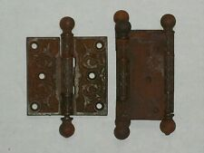 "Antique Eastlake Door Hinges 3"" x 3"""