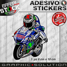 Adesivi Sticker Mascotte cartoon LORENZO JORGE 99 MOTOGP YAMAHA TOP QUALITY!