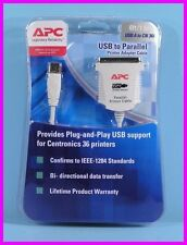 *** APC USB to PARALLEL Printer Adaptor Cable 6' NEW **