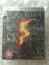 NEW FACTORY SEALED RESIDENT EVIL 5 LIMITED STEELBOOK EDITION PS3SONY PLAYSTATION