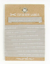 CUT & SEW LABELS ~ MADE BY HAND WITH LOVE ~ by Moda  3-yard card