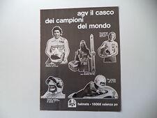 advertising Pubblicità 1975 CASCO AGV e GIACOMO AGOSTINI/FITTIPALDI/KEN ANDERSON