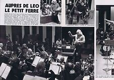 COUPURE DE PRESSE CLIPPING 1975 LEO FERRE   (2 pages)